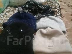4 шапки и шарфик женские