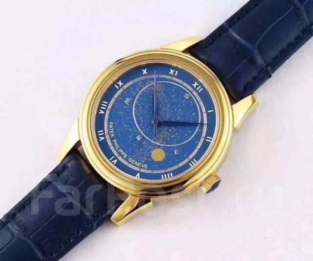 71e3a692982 Patek Philippe Автоматические механические часы Мужские часы Кожаный ...