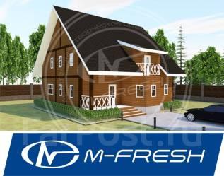 M-fresh Onix (Проект дома из бруса с острой крышей! ). 200-300 кв. м., 1 этаж, 6 комнат, дерево