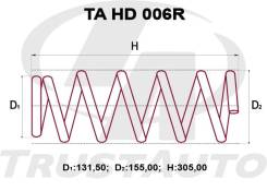 Комплект Усиленных +2см Пружин Honda HR-V GH3/GH4 HD006R, 52441-S4N-951