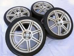 "Диски Bridgestone BEO с летними шинами Nankang. 7.0x17"" 4x100.00 ET45 ЦО 73,1мм."