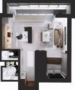 1-комнатная, улица Клубничная 140. Центральный, частное лицо, 34кв.м.