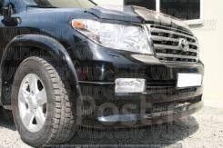 Накладка на бампер. Toyota Land Cruiser, GRJ200, J200, URJ200, URJ202W, UZJ200, UZJ200W, VDJ200 Двигатели: 1GRFE, 1URFE, 1VDFTV, 2UZFE, 3URFE