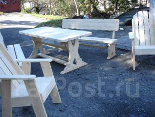 Плотник. Мебель из массива дерева. Столы, лавочки