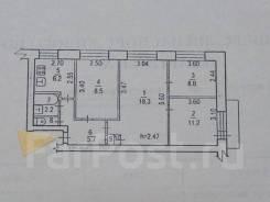 4-комнатная, улица Промывочная 60. Железнодорожный, агентство, 63кв.м.