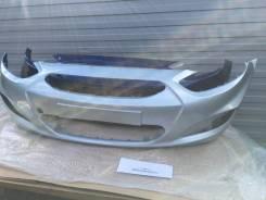 Hyundai Solaris передний бампер новый серебристый хендай Хундай