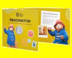 Великобритания 50 пенсов 2018 Paddington at the Station. Медведь