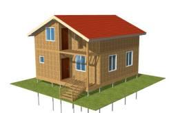 Домокомплект 2-х эт. мансардного дома 115 м2 Sip панели в Красноярске