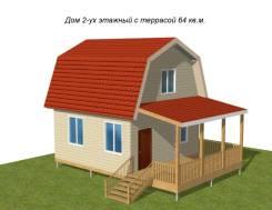 Домокомплект 2-ух эт. дачного дома 64 м2 из Sip панелей в Красноярске
