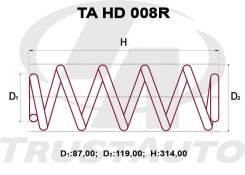 Комлект Усиленных +2см Пружин Honda Fit GD2/GD4 52441-SAB-J02