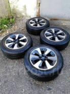 """Зимняя резина Dunlop 225/60R17 на Литье Subaru 5x100R17. 7.0x17"""" 5x100.00 ET48 ЦО 56,1мм."""