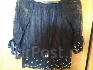 150b1192b1e5 Новая Блузка с контрастной надписью и ярк. кисточками с хорош ...