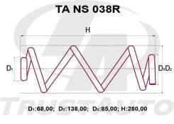 Пружина подвески. Nissan Tiida, C11, C11X