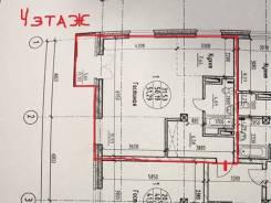 2-комнатная, улица Лазо 31. Железнодорожный, агентство, 51,3кв.м. План квартиры