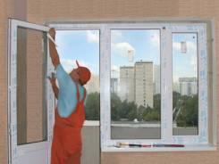 Откосы, на дверях, на окнах, подоконники, пороги
