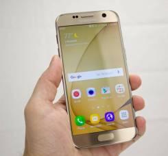 Samsung Galaxy S7. Б/у, 32 Гб, Золотой, 3G, 4G LTE, Dual-SIM
