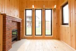 Современная БАНЯ 3х6м с доставкой - парная, душ, комната с камином. Под заказ