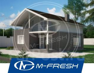 M-fresh Lider-зеркальный (Готовый проект комбинированного дома). 100-200 кв. м., 2 этажа, 4 комнаты, комбинированный