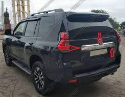 Накладка на дверь багажника. Toyota Land Cruiser Prado, GDJ150, GDJ150L, GDJ150W, GDJ151W, GRJ150, GRJ150L, GRJ150W, GRJ151W, KDJ150, KDJ150L, TRJ120...
