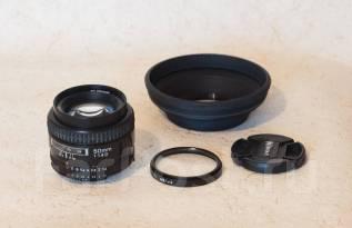 Объектив AF Nikkor 50 mm f/1.4D с блендой во Владивостоке. Для Nikon, диаметр фильтра 52 мм