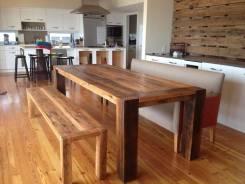 Изготовление столов из дерева под заказ. Собственное производство.