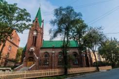 Разнорабочий. Евангелическо-Лютеранская Церковь Св.Павла. Улица Пушкинская 14