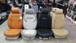 Чехлы на сиденья черные комбинированные Land Cruiser 200 / Lexus LX570