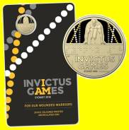 Австралия 1 доллар 2018 Invictus Games. Спорт. Карточка. Unc