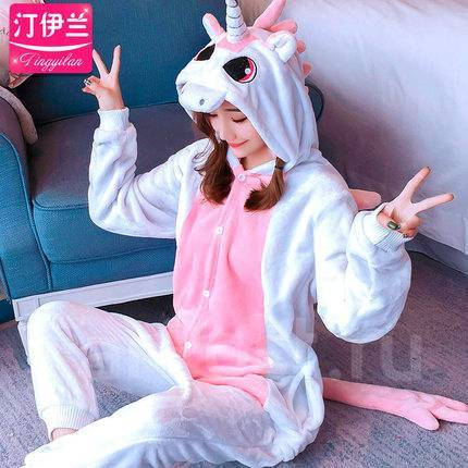 Пижама кигуруми бело-розовый единорог. Размер М  155-168 СМ - Одежда ... f8f0d316eea1b