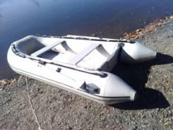 Продам надувную лодку. длина 3,30м., двигатель без двигателя