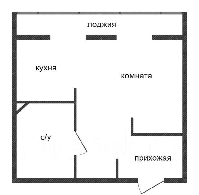 1-комнатная, улица Можайская 24. Патрокл, агентство, 39кв.м. План квартиры