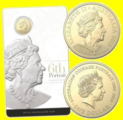 Австралия 1 доллар 2019 Australian Coinage Portrait. 6-ой портрет
