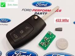 Ключ зажигания, смарт-ключ. Ford Focus, CB4, DA3, DB Ford Galaxy, CD340 Ford Fiesta Ford Mondeo, BD, BE, BG Двигатели: AODA, AODB, AODE, ASDA, ASDB, G...
