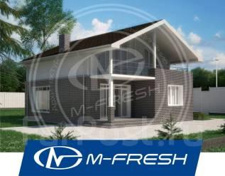 M-fresh Lider (Готовый проект дома с доработанной планировкой). 100-200 кв. м., 2 этажа, 4 комнаты, комбинированный