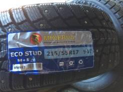 Minerva Eco Stud. Зимние, шипованные, 2018 год, без износа, 4 шт