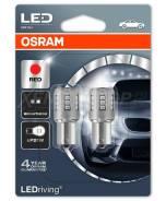 Лампа светодиодная P21W 3W 12V BA15S 5XBLI2 4M красный Osram 7456R02B