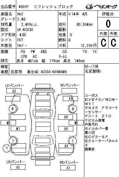 Обшивка средних стоек Toyota Camry