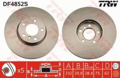 Диск тормозной передний BMW X5 E70, F15, X6 E71, E72 DF4852S trw DF4852S в наличии