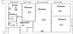 Обмен ДОЛИ (61/100) в 4 комнатной квартире, Краснодарская 23б. От агентства недвижимости (посредник)