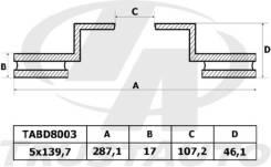 Диск тормозной. Suzuki Escudo, TA01R, TA01V, TA01W, TA02W, TA11W, TA31W, TA51W, TA52W, TA74W, TD01W