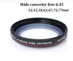 Фотофильтр конвертер Zomei 77mm 0.45x ultra wide-angle lens. Для Canon, Nikon, диаметр 77 мм