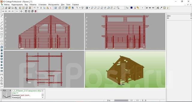 Проектирование деревянных домов, разбревновка и разбрусовка за 1 день