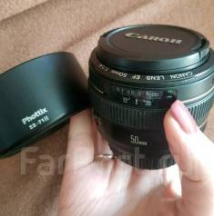 Объектив Canon 50mm f1:1,4 с блендой