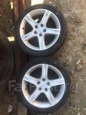 "Пара колес на литье от Altezza и резине Dunlop 215/45R17. 7.0x17"" 5x114.30 ET50 ЦО 60,1мм."