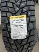 Dunlop SP Winter ICE 02. Зимние, без шипов, 2018 год, без износа, 4 шт