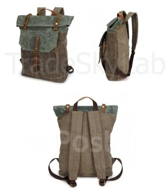 0ac17d57daf3 Городской рюкзак мужской. Винтаж ретро стиль. Кожа + Ткань. Гарантия ...