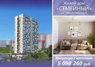 2-комнатная, улица Черняховского 5 стр. 1. 64, 71 микрорайоны, застройщик, 62кв.м.