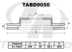 Диск тормозной. Toyota Corolla, CE100, EE100