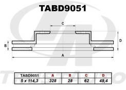 Диск тормозной. Lexus RX270 Toyota RAV4, ALA40, ALA41, ALA49, ALA49L Toyota Kluger V