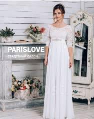 80ea9f6170a Свадебное платье из нежного шифона с открытой спиной - Свадебные ...